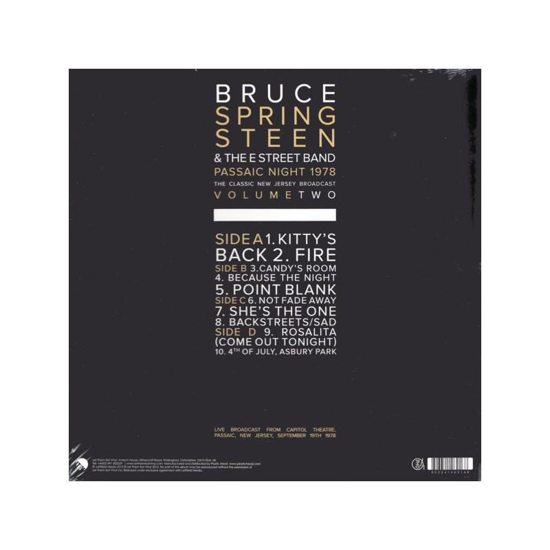 Springsteen Bruce Passaic Night New Jersey 1978 Vol