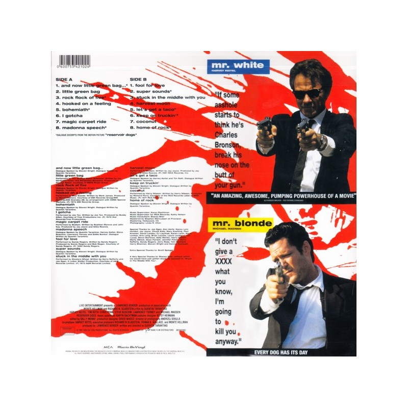 the music by stealers wheel in reservoir dogs by quentin tarantino in 1992 Music on vinyl reservoir dogs a selection of unusual and sometimes wacky hits by artists such as stealers wheel quentin tarantino - harvey keitel.
