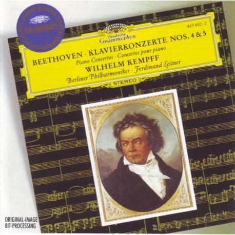 BEETHOVEN, LUDWIG VAN - PIANO CONCERTOS NOS. 4&5 EMPEROR - WILHELM KEMPFF