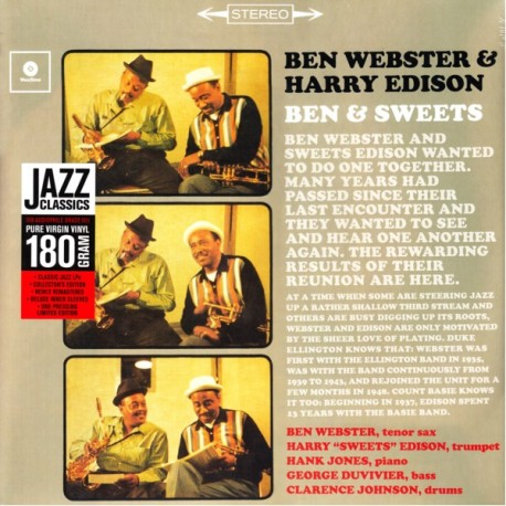 WEBSTER, BEN & EDISON, HARRY - BEN & SWEETS (1LP) - WAX TIME EDITION - 180 GRAM PRESSING