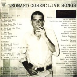 COHEN, LEONARD - LIVE SONGS (1LP) - MOV EDITION - 180 GRAM PRESSING