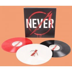 THROUGH THE NEVER - METALLICA (3LP) - 180 GRAM BLACK / RED / WHITE VINYL PRESSING - WYDANIE AMERYKAŃSKIE