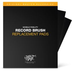 RECORD BRUSH: REPLACEMENT PADS - MFSL - WYMIENNE PADY DO SZCZOTECZKI WELUROWEJ DO CZYSZCZENIA PŁYT WINYLOWYCH (2 SZT.)