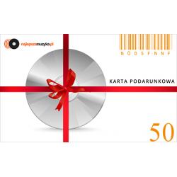 E-KARTA PODARUNKOWA NAJLEPSZAMUZYKA.PL - 50 PLN