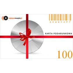 E-KARTA PODARUNKOWA NAJLEPSZAMUZYKA.PL - 100 PLN