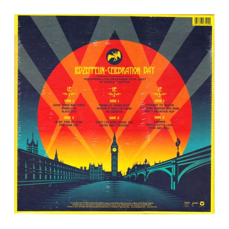 Led Zeppelin Celebration Day 3 Lp 180 Gram Pressing