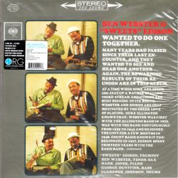 """WEBSTER, BEN & HARRY """"SWEETS"""" EDISON – WANTED TO DO ONE TOGETHER (2 LP) - 45 RPM 180 GRAM PRESSING - WYDANIE AMERYKAŃSKIE"""