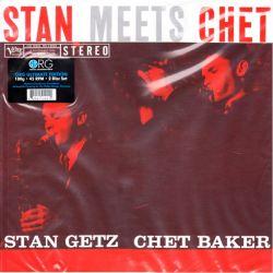GETZ, STAN & CHET BAKER – STAN MEETS CHET (2 LP) - 45 RPM - 180 GRAM PRESSING - WYDANIE AMERYKAŃSKIE