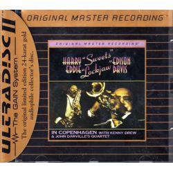 """EDISON, HARRY """"SWEETS"""" & EDDIE """"LOCKJAW"""" DAVIS - IN COPENHAGEN (1 CD) - 24KT GOLD CD - WYDANIE AMERYKAŃSKIE"""