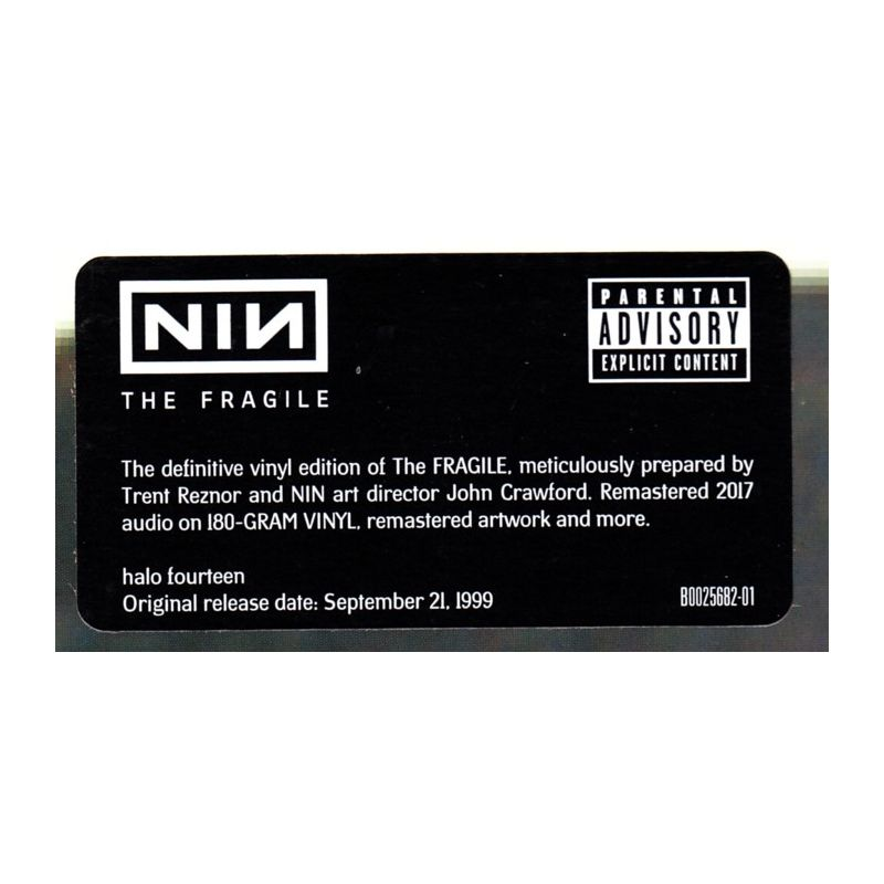 NINE INCH NAILS - THE FRAGILE (3 LP) - 180 GRAM PRESSING - WYDANIE ...