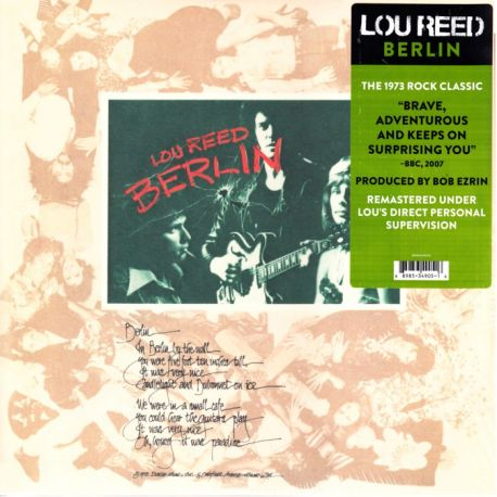 REED, LOU - BERLIN (1 LP)