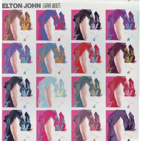 JOHN, ELTON - LEATHER JACKETS (1LP) - CUT OUT