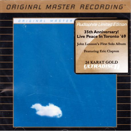 PLASTIC ONO BAND, THE - LIVE PEACE IN TORONTO 1969 (1 CD) - 24KT GOLD PLATED DISC - MFSL EDITION - WYDANIE AMERYKAŃSKIE
