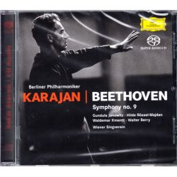 BEETHOVEN, LUDWIG VAN - SYMPHONY NO. 9 - BERLINER PHILHARMONIKER, HERBERT VON KARAJAN (1 SACD)