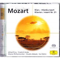 MOZART, WOLFGANG AMADEUS - KLARINETTENKONZERT/KLAVIERKONZERT 21 - CLAUDIO ABBADO (1 SACD)