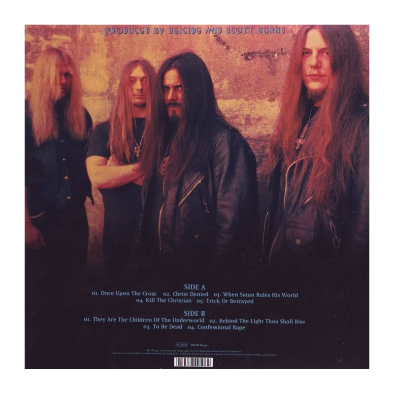 Deicide Once Upon The Cross 1 Lp 180 Gram Pressing