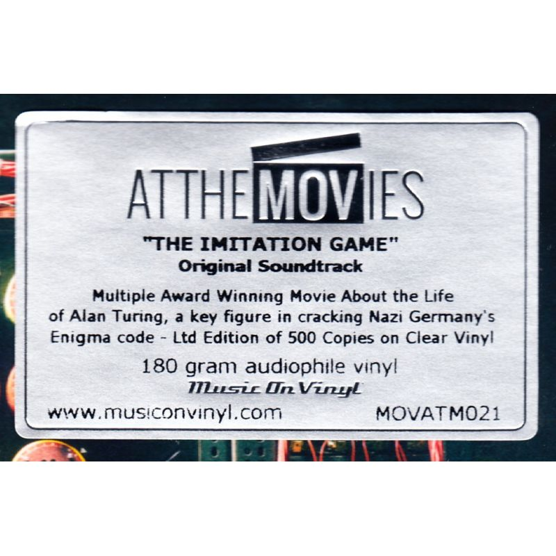 Imitation Game Gra Tajemnic Alexandre Desplat 1 Lp