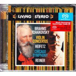 BRAHMS / TCHAIKOVSKY - VIOLIN CONCERTOS - HEIFETZ / CHICAGO SYMPHONY / REINER(1 SACD) - WYDANIE AMERYKAŃSKIE