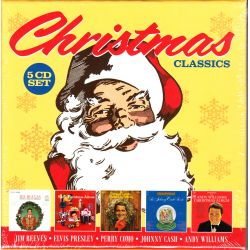 CHRISTMAS CLASSICS - JIM REEVES / ELVIS PRESLEY / PERRY COMO / JOHNNY CASH / ANDY WILLIAMS ‎‎(5 CD)