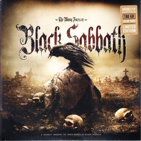 BLACK SABBATH - MANY FACES OF BLACK SABBATH(2 LP) - LIMITED BLACKGOLD SPLATTER