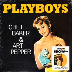 BAKER, CHET & ART PEPPER - PLAYBOYS (1 LP) - WAX TIME COLOURED EDITION - 180 GRAM PRESSING