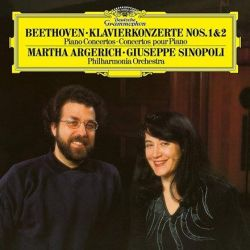 Beethoven - Piano Concertos Nos. 1 and 2: Martha Argerich, Phil. Orch. London, Sinopoli (Vinyl 2LP)
