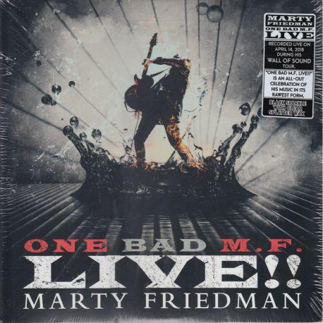 FRIEDMAN, MARTY - ONE BAD M.F. LIVE!! (2 LP) - BLACK SPARKLE WITH CLEAR SPLATTER EDITION - WYDANIE AMERYKAŃSKIE