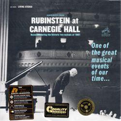 RUBINSTEIN, ARTHUR - HIGHLIGHTS FROM RUBINSTEIN AT CARNEGIE HALL (1 LP) - ANALOGUE PRODUCTIONS - 200 GRAM - WYDANIE AMERYKAŃSKIE