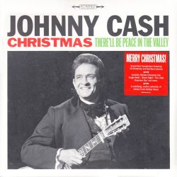 CASH, JOHNNY - CHRISTMAS - THERE'LL BE PEACE IN THE VALLEY (1 LP)