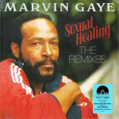 """GAYE, MARVIN - SEXUAL HEALING: THE REMIXES (12"""" SINGLE) - RED SMOKE VINYL PRESSING"""