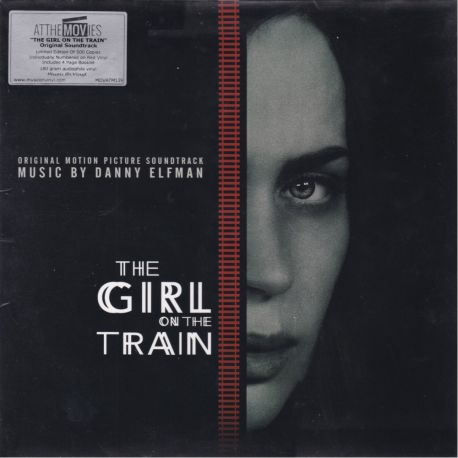 THE GIRL ON THE TRAIN [DZIEWCZYNA Z POCIĄGU] - DANNY ELFMAN (1 LP) LIMITED EDITION NUMBERED 180 GRAM RED VINYL PRESSING