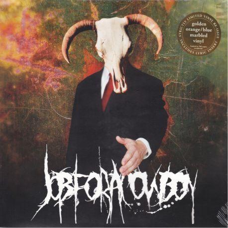 JOB FOR A COWBOY - DOOM (1 LP) LIMITED NUMBERED GOLDEN ORANGE / BLUE MARBLED EDITION