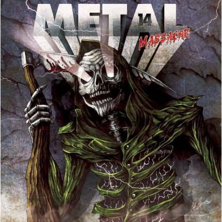 METAL MASSACRE 14 - METAL BLADE RECORDS COMPILATION (LP + CD) - PINE GREEN MARBLED EDITION