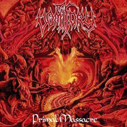 VOMITORY - PRIMAL MASSACRE (1 LP) - ORANGE RED MARBLED VINYL