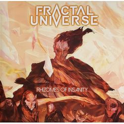 FRACTAL UNIVERSE - RHIZOMES OF INSANITY (1 LP) - LIMITED ORANGE-RED MARBLED VINYL EDITION
