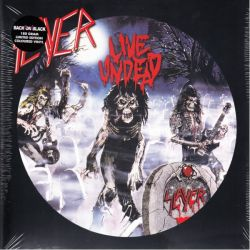 SLAYER - LIVE UNDEAD (1 LP) - R.S.D. LIMITED TO 500 COPIES 180 GRAM WHITE/BLUE VINYL PRESSING