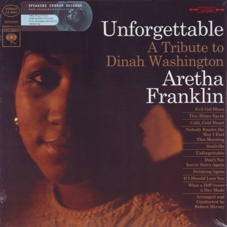 FRANKLIN, ARETHA - UNFORGETTABLE: A TRIBUTE TO DINAH WASHINGTON (1LP) - 180 GRAM PRESSING